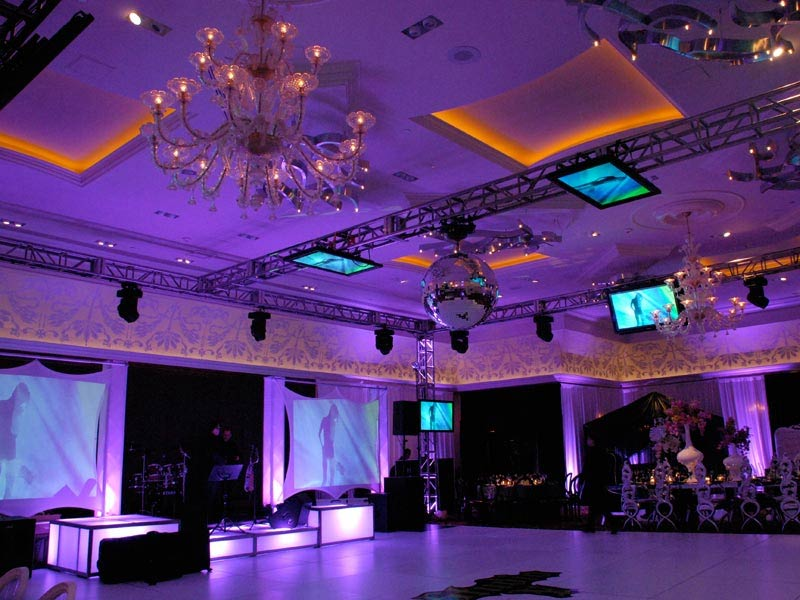 Event-Production-truss-with-videos-portable-dance-floor-stage-decks-and-video-projections