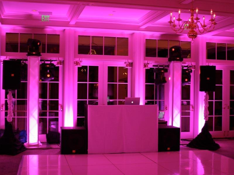 pink atmosphere lighting