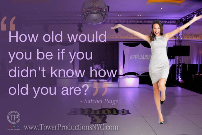 dance floor with woman and words: how old would you be if you didn't know how old you are?