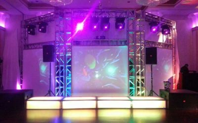 13'h DJ Booth & Projection Screens at a Bat Mitzvah