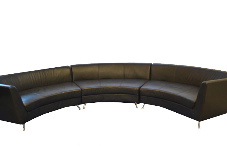 Black-3-piece-Sectional-Curved-Couch