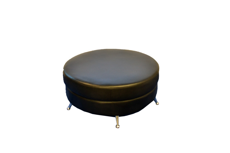 Black-Lounge-Decor-36in-or-60in-Round-Ottoman