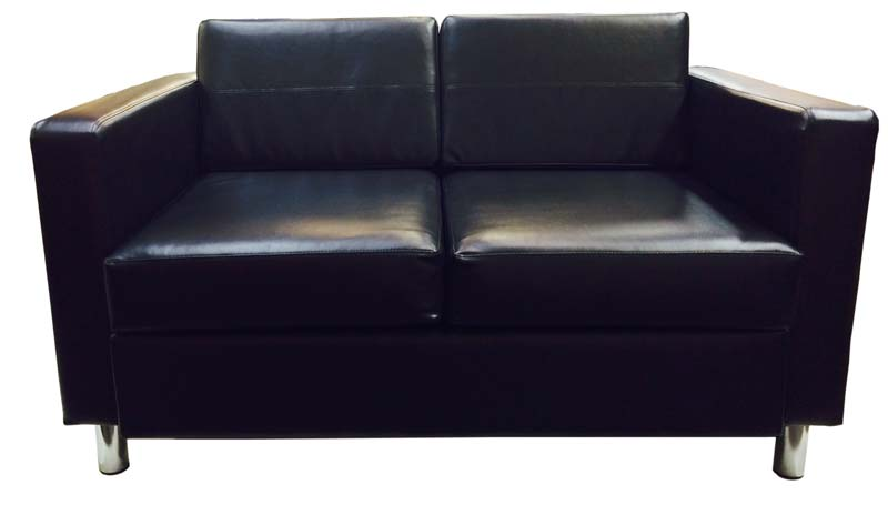 Black-Love-Seat-with-Arms