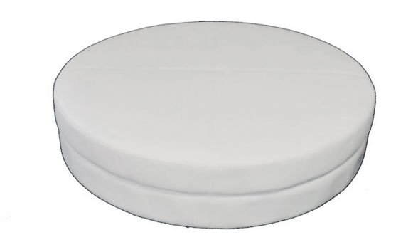 lounge-decor-round ottoman with tufts